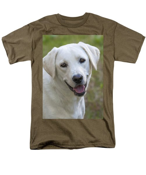 Men's T-Shirt  (Regular Fit) featuring the photograph Happy Lab by Stephen Anderson