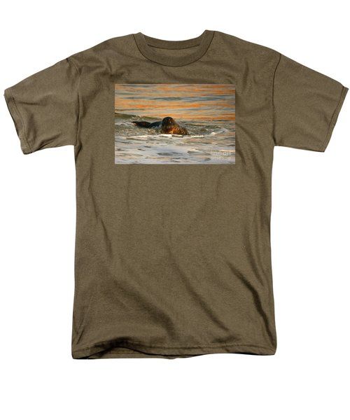 Men's T-Shirt  (Regular Fit) featuring the photograph La Jolla Seal Sunset by John F Tsumas