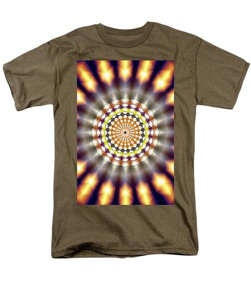 Men's T-Shirt  (Regular Fit) featuring the drawing Harmonic Sphere Of Energy by Derek Gedney