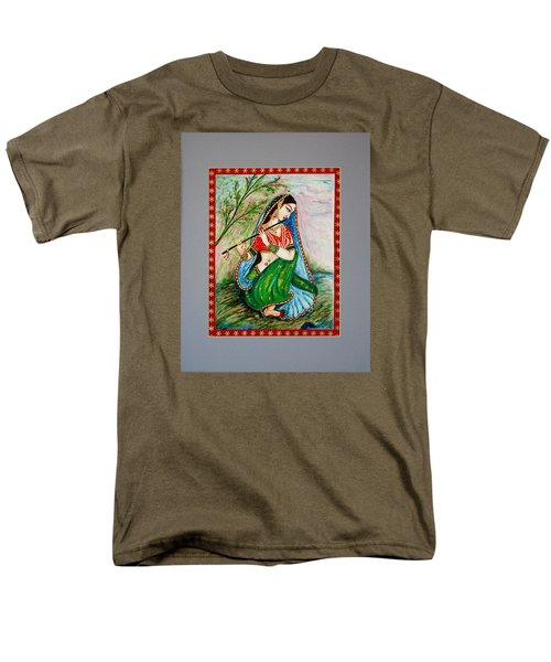 Men's T-Shirt  (Regular Fit) featuring the painting Harmony by Harsh Malik