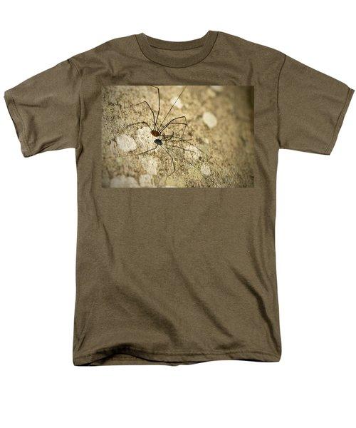 Men's T-Shirt  (Regular Fit) featuring the photograph Harvestman Spider by Chevy Fleet