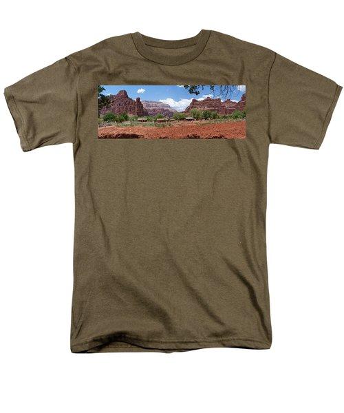 Men's T-Shirt  (Regular Fit) featuring the photograph Havasupai Village Panorama by Alan Socolik