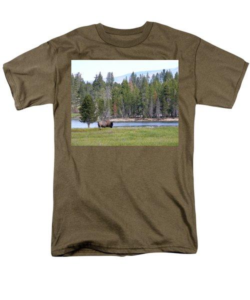 Hayden Valley Bison Men's T-Shirt  (Regular Fit) by Laurel Powell