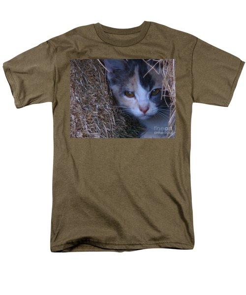 Haystack Cat Men's T-Shirt  (Regular Fit) by Greg Patzer