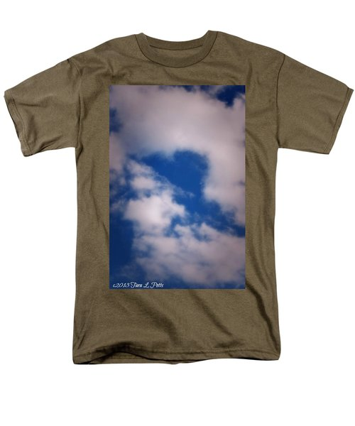 Men's T-Shirt  (Regular Fit) featuring the photograph Heart In The Clouds by Tara Potts