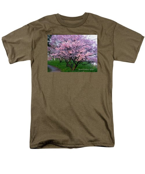Men's T-Shirt  (Regular Fit) featuring the painting Heartfelt Cherry Blossoms by Bruce Nutting