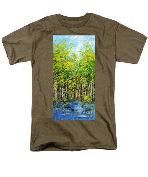 Men's T-Shirt  (Regular Fit) featuring the painting Heat Of Summer by Tatiana Iliina