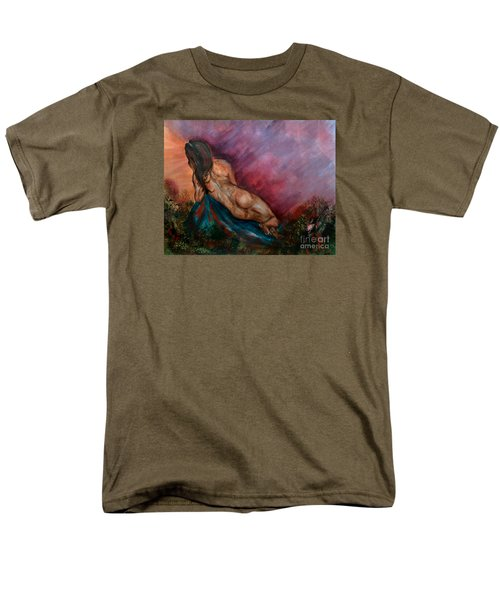 Men's T-Shirt  (Regular Fit) featuring the painting Heavens Garden by Lori  Lovetere