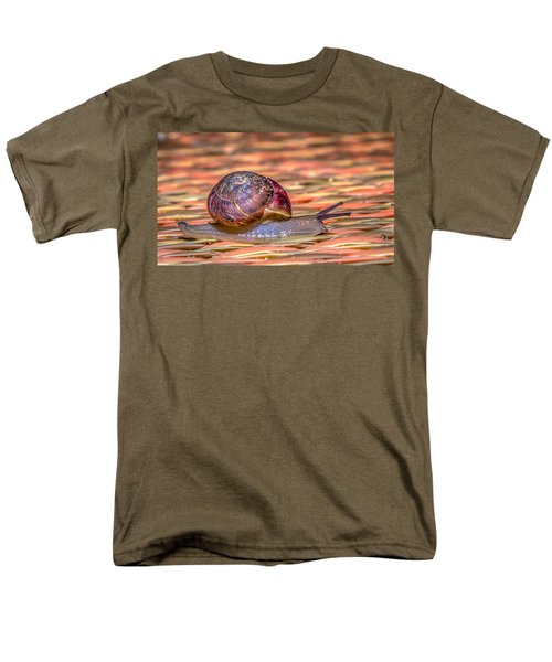 Men's T-Shirt  (Regular Fit) featuring the photograph Helix Aspersa by Rob Sellers