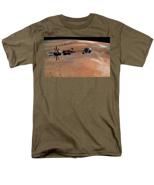 Hermes1 Orbiting Mars Men's T-Shirt  (Regular Fit) by David Robinson