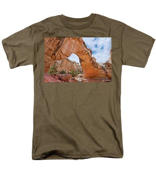 Men's T-Shirt  (Regular Fit) featuring the photograph Hickman Bridge Natural Arch by Jeff Goulden