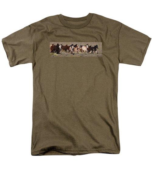 High Desert Horses Men's T-Shirt  (Regular Fit) by Diane Bohna