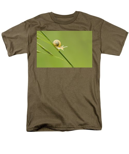 High Speed Snail Men's T-Shirt  (Regular Fit) by Mircea Costina Photography