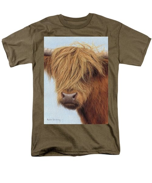 Highland Cow Painting Men's T-Shirt  (Regular Fit) by Rachel Stribbling