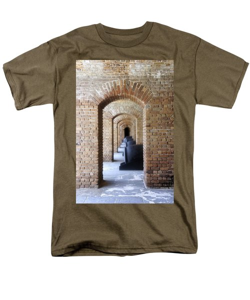 Men's T-Shirt  (Regular Fit) featuring the photograph Historic Hallway by Laurie Perry
