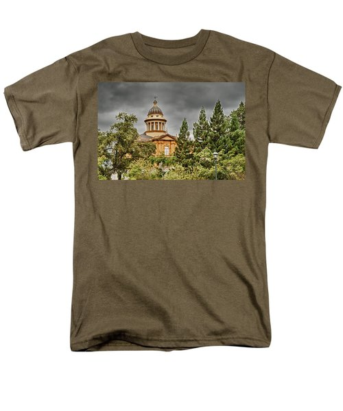Men's T-Shirt  (Regular Fit) featuring the photograph Historic Placer County Courthouse by Jim Thompson