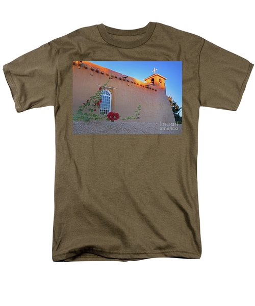 Hollyhocks On Adobe Men's T-Shirt  (Regular Fit) by Gary Holmes