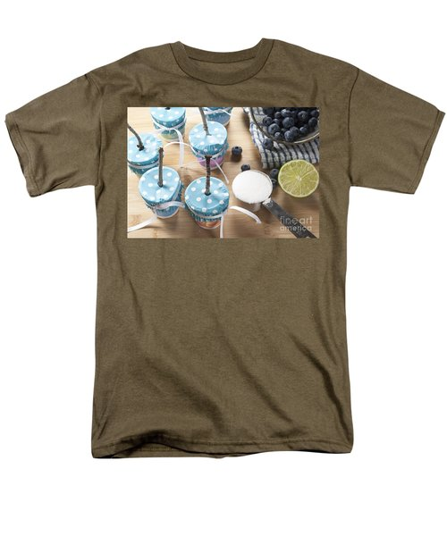 Homemade Blueberry Popsicles Men's T-Shirt  (Regular Fit) by Juli Scalzi