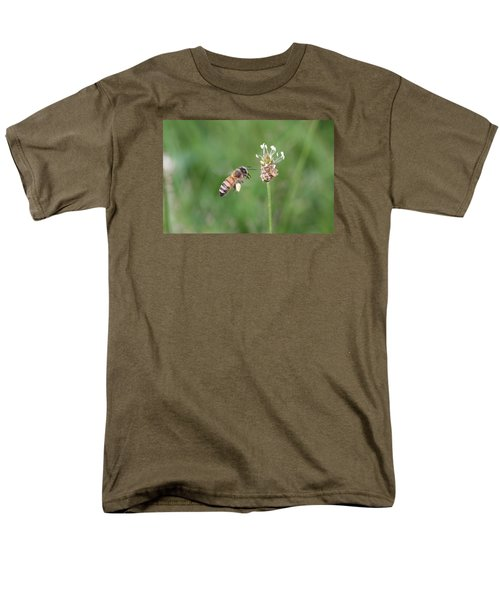 Honeybee And English Plantain Men's T-Shirt  (Regular Fit) by Lucinda VanVleck