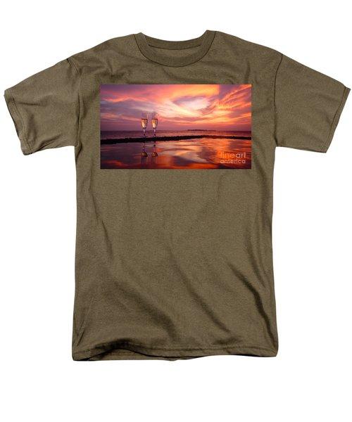 Honeymoon - A Heart In The Sky Men's T-Shirt  (Regular Fit) by Hannes Cmarits