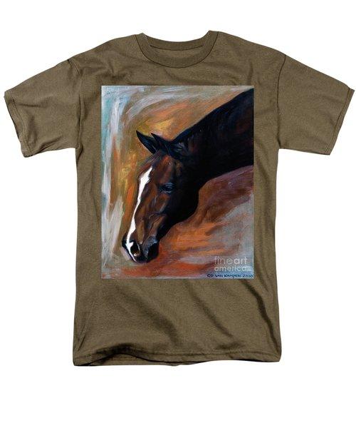 Men's T-Shirt  (Regular Fit) featuring the painting horse - Apple copper by Go Van Kampen
