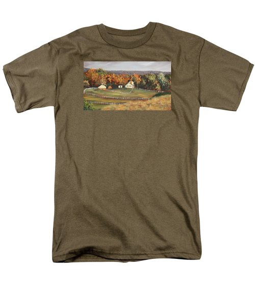 Horse Farm Men's T-Shirt  (Regular Fit) by Alan Mager