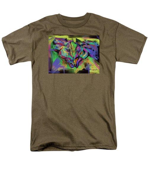Horses Together In Colour Men's T-Shirt  (Regular Fit) by Go Van Kampen