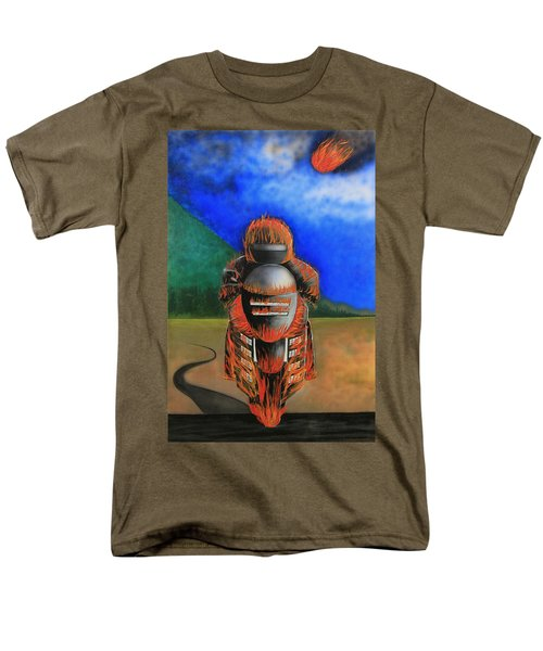 Men's T-Shirt  (Regular Fit) featuring the painting Hot Moto by Tim Mullaney