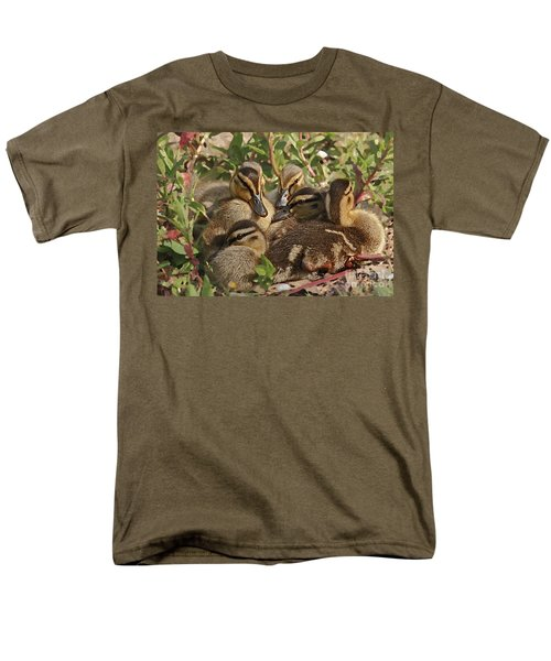 Men's T-Shirt  (Regular Fit) featuring the photograph Huddled Ducklings by Kate Brown
