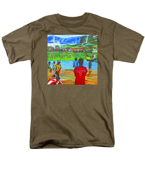 Men's T-Shirt  (Regular Fit) featuring the painting Hurry Up There - Ryan Giggs Tribute by Mudiama Kammoh