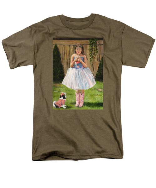 Men's T-Shirt  (Regular Fit) featuring the painting I Dressed Myself by Donna Tucker