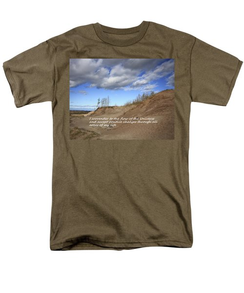 Men's T-Shirt  (Regular Fit) featuring the photograph I Surrender To The Flow Of The Universe by Patrice Zinck