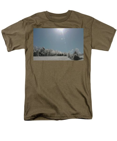 Men's T-Shirt  (Regular Fit) featuring the photograph Ice Kissed by Ellen Levinson