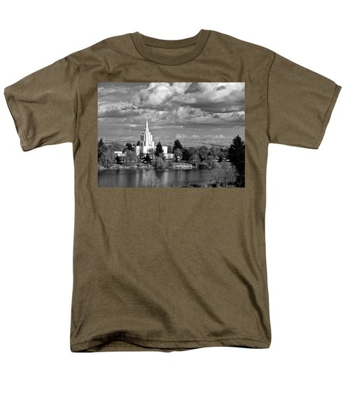 Idaho Falls Temple Men's T-Shirt  (Regular Fit) by Eric Tressler