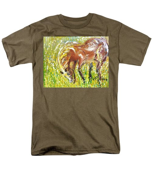 Men's T-Shirt  (Regular Fit) featuring the painting In The Field by Evelina Popilian