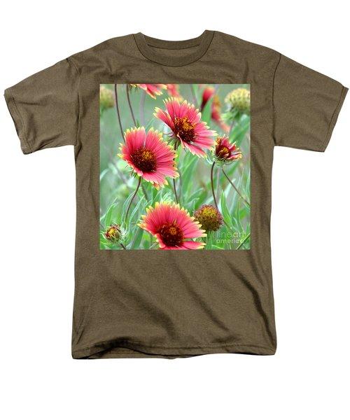 Indian Blanket Wildflowers Men's T-Shirt  (Regular Fit) by Robert Frederick