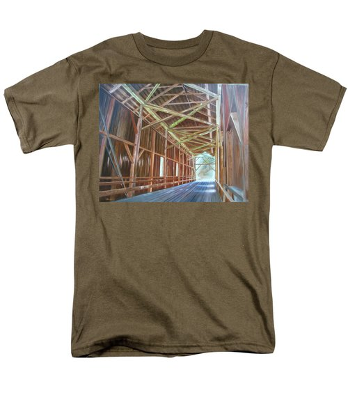Men's T-Shirt  (Regular Fit) featuring the painting Inside Felton Covered Bridge by LaVonne Hand