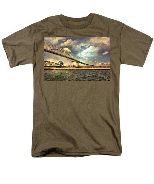 International Bridge Sault Ste Marie Men's T-Shirt  (Regular Fit) by Evie Carrier