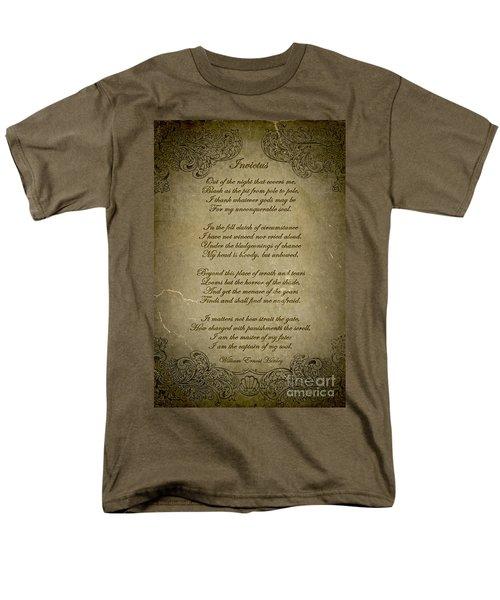 Invictus By William Ernest Henley Men's T-Shirt  (Regular Fit) by Olga Hamilton
