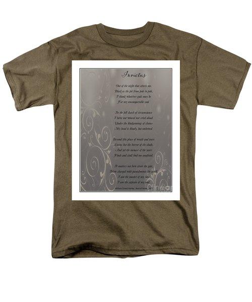 Invictus Tribute 2 Men's T-Shirt  (Regular Fit) by Bobbee Rickard