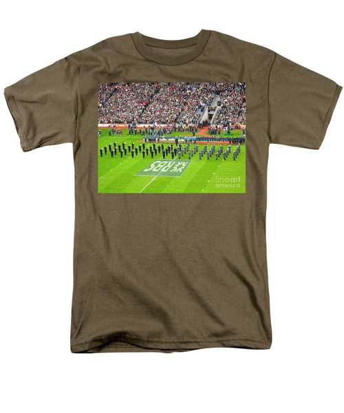 Men's T-Shirt  (Regular Fit) featuring the photograph Ireland Vs France by Suzanne Oesterling