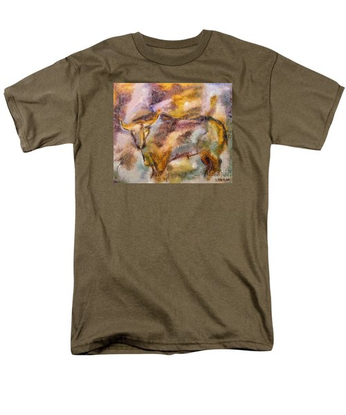 Men's T-Shirt  (Regular Fit) featuring the painting Istrian Bull -  Boshkarin by Dragica  Micki Fortuna
