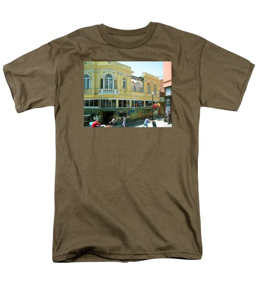 Men's T-Shirt  (Regular Fit) featuring the photograph Italian Town In San Francisco by Connie Fox