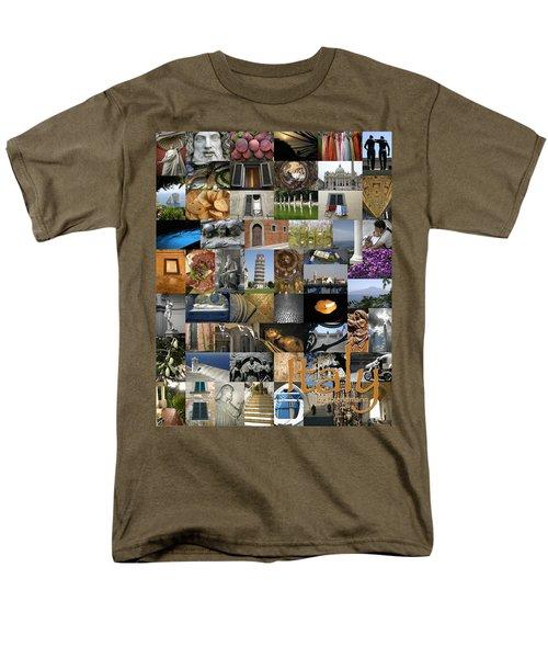 Italy Poster Men's T-Shirt  (Regular Fit) by KG Thienemann