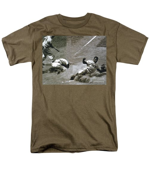 Jackie Robinson Sliding Home Men's T-Shirt  (Regular Fit)
