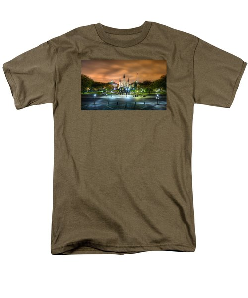 Jackson Square At Night Men's T-Shirt  (Regular Fit) by Tim Stanley