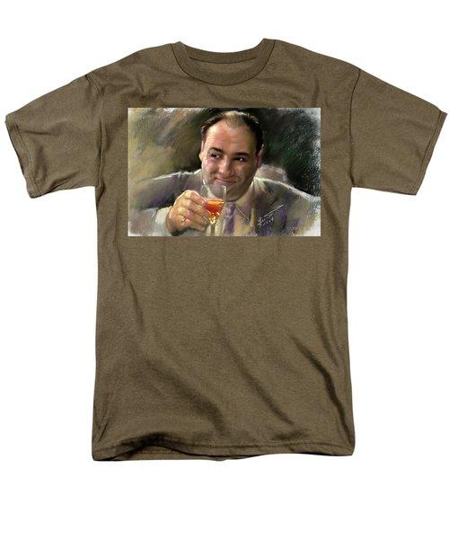 Men's T-Shirt  (Regular Fit) featuring the drawing James Gandolfini by Viola El