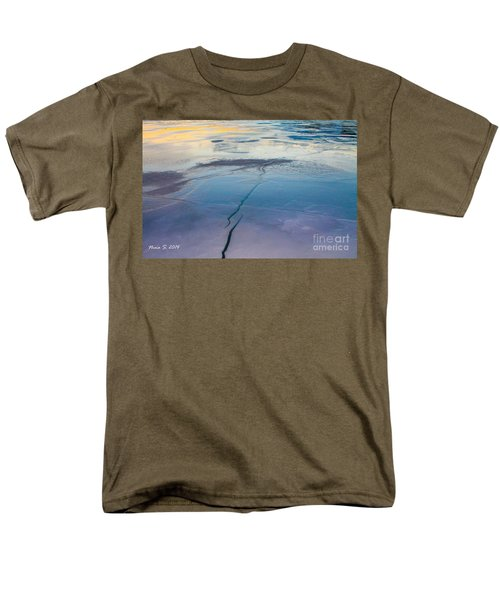 Men's T-Shirt  (Regular Fit) featuring the photograph January Sunset On A Frozen Lake by Nina Silver