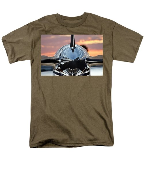 Airplane At Sunset Men's T-Shirt  (Regular Fit) by Carolyn Marshall