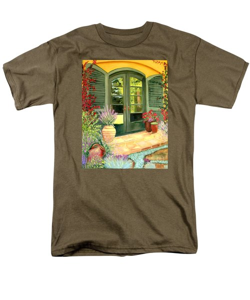 Jill's Patio Men's T-Shirt  (Regular Fit) by Laurie Morgan